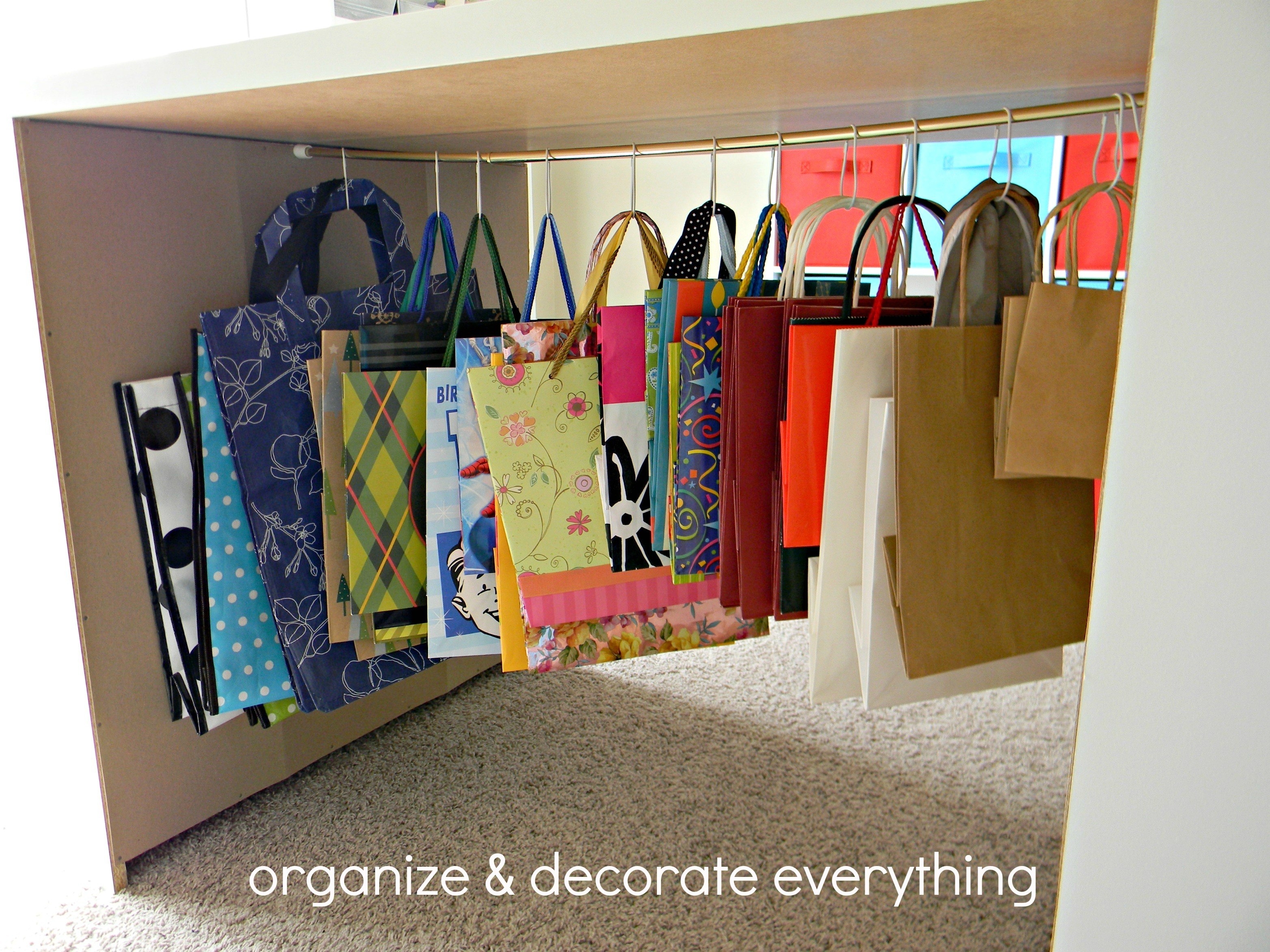 Gift Bag Storage Organize And Decorate Everything