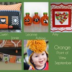 September Point of View Link Party – Orange