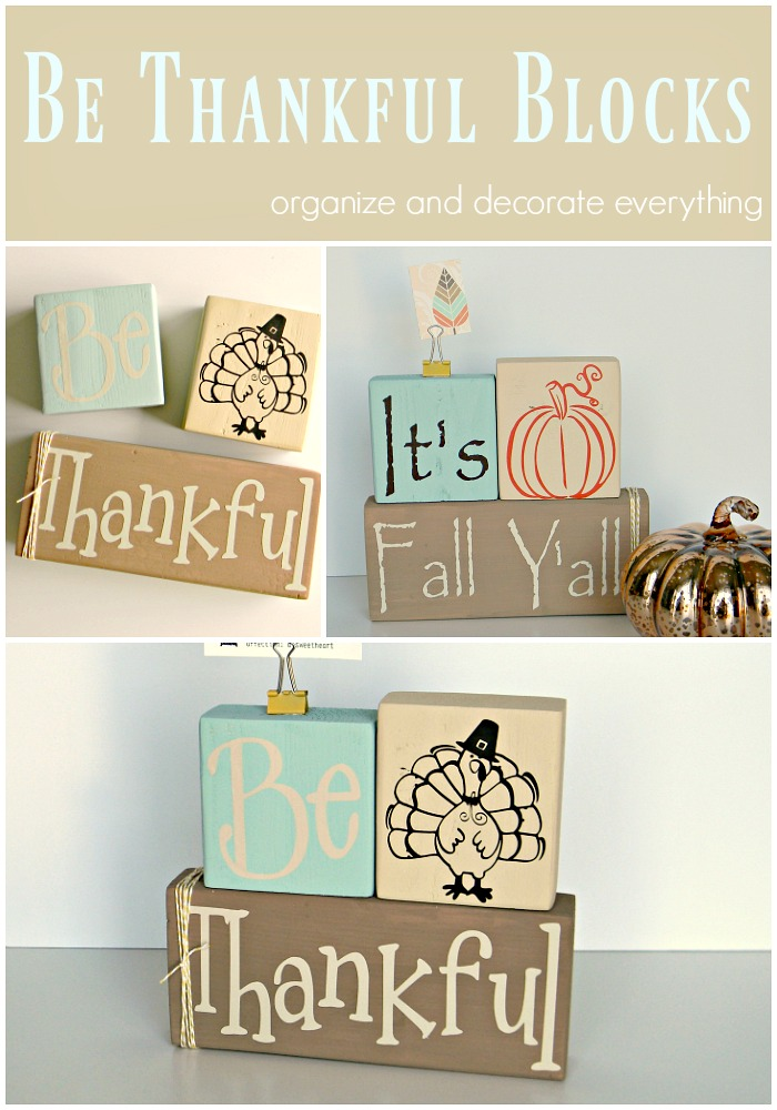 Double Sided Be Thankful Blocks