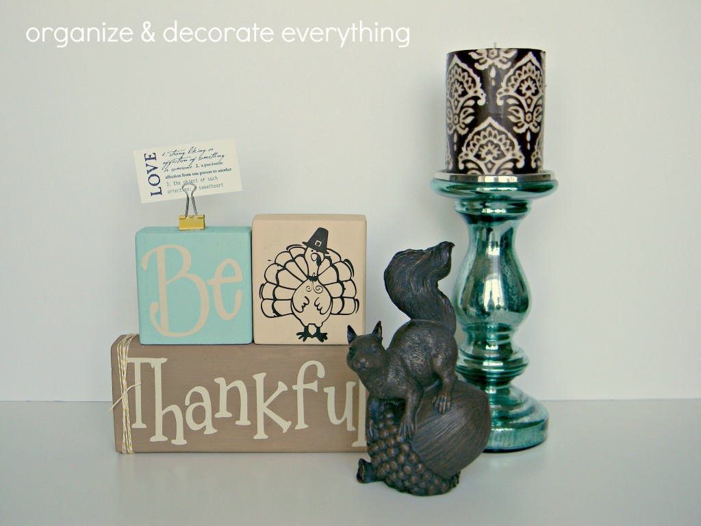 Be Thankful blocks displayed