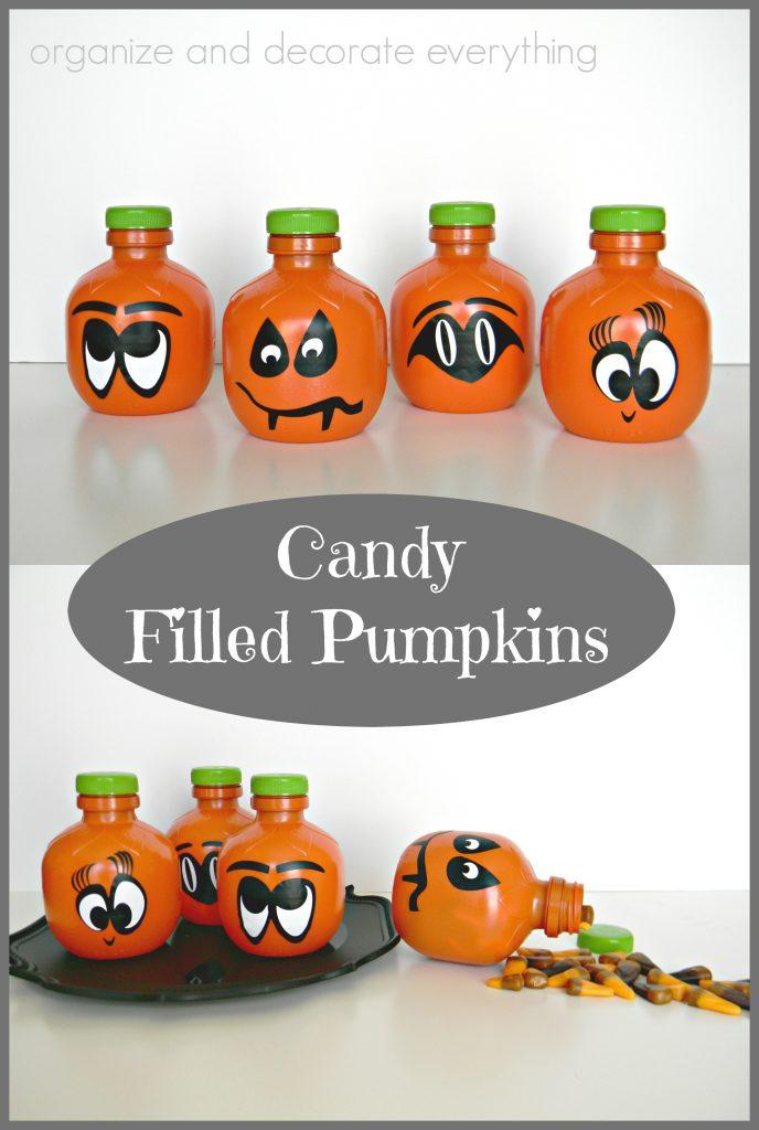 Candy Filled Pumpkins for Halloween