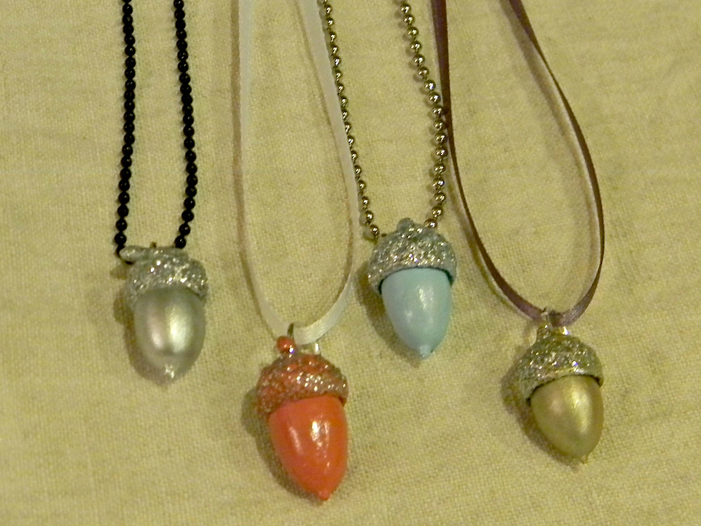 painted acorn necklaces organize and decorate everything