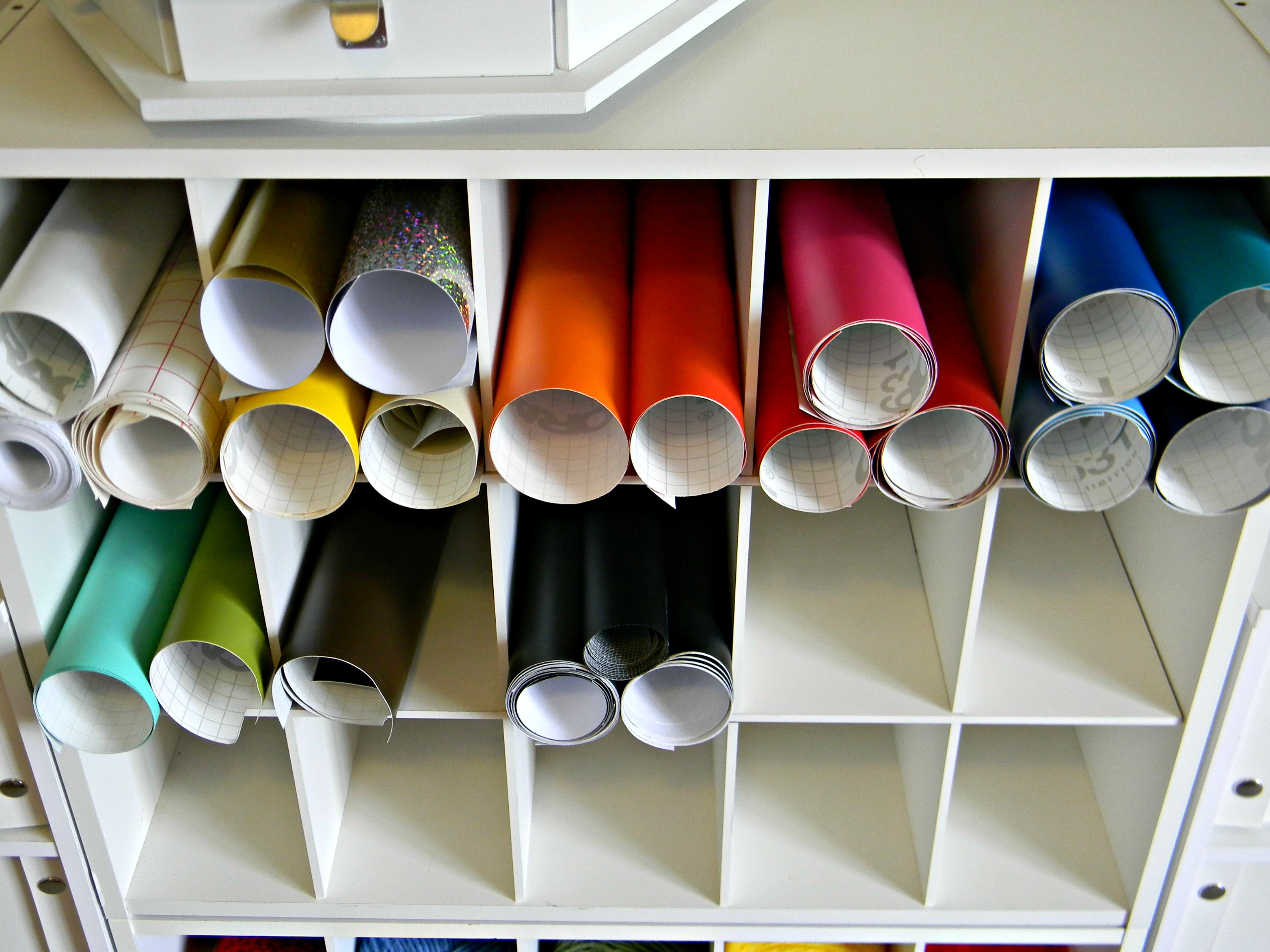 Crafty Storage Vinyl Rolls Ideas