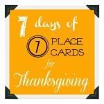 Day 2- Mini Pumpkin Place Cards