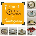 7 Days of 7 Place Cards for Thanksgiving