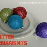 Glitter Ball Ornaments