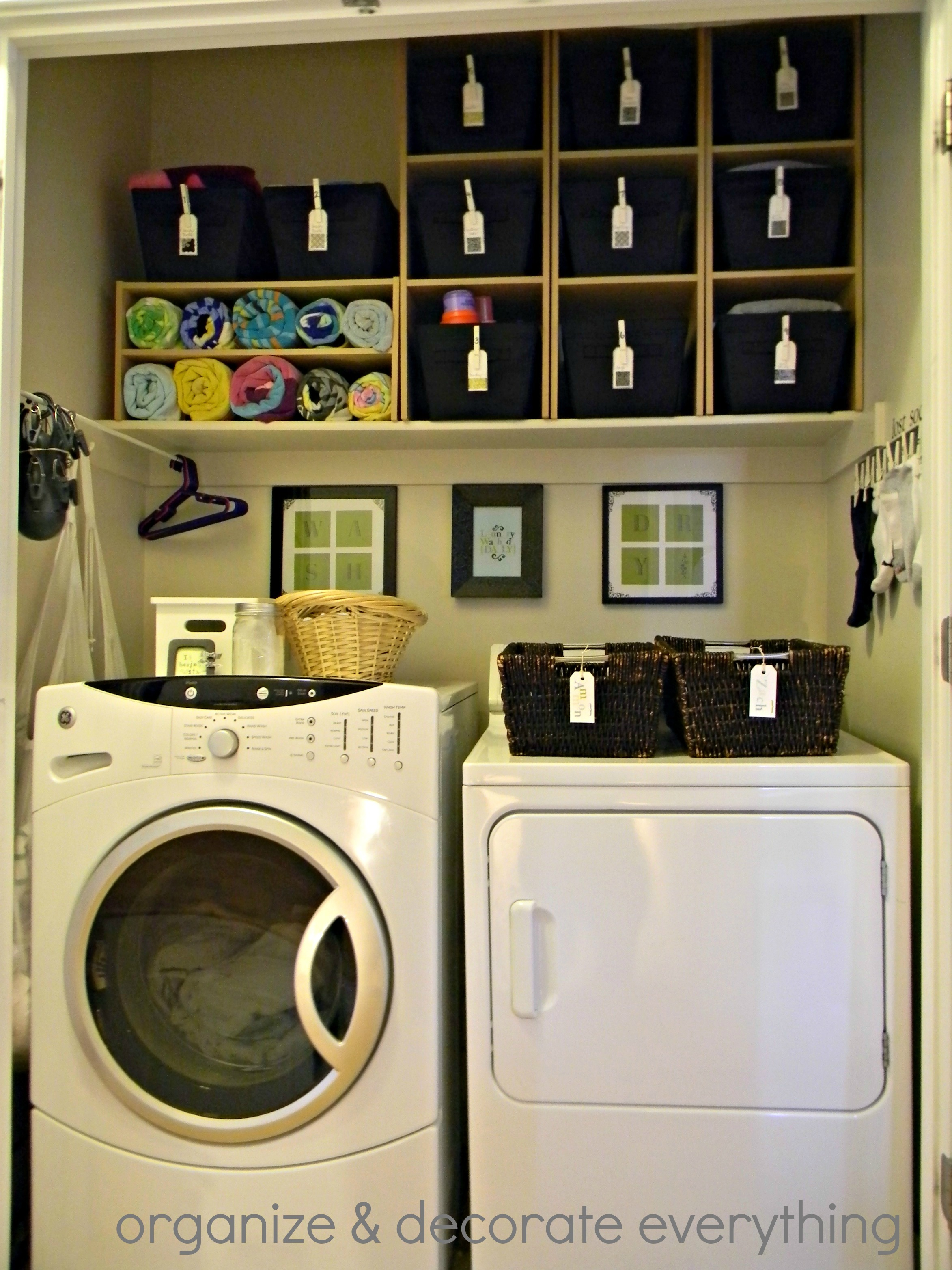Organized space of the week laundry closet a bowl full for Decorate a laundry room