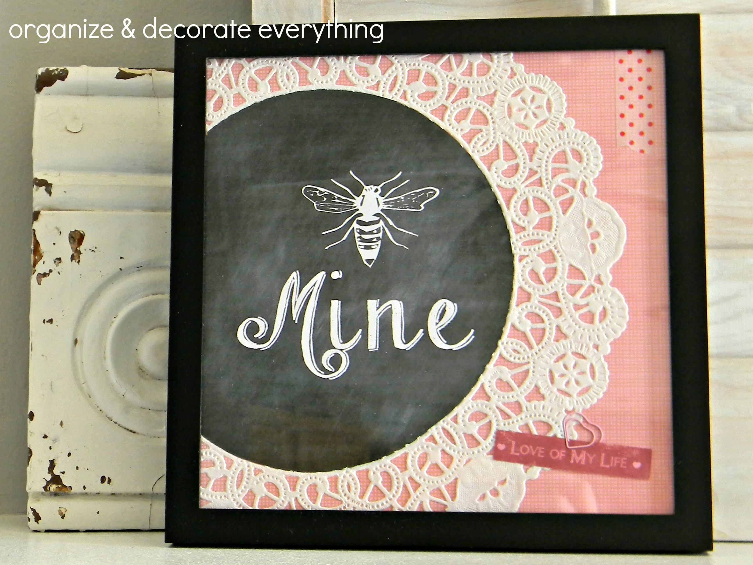 Bee Mine Framed Printable 6