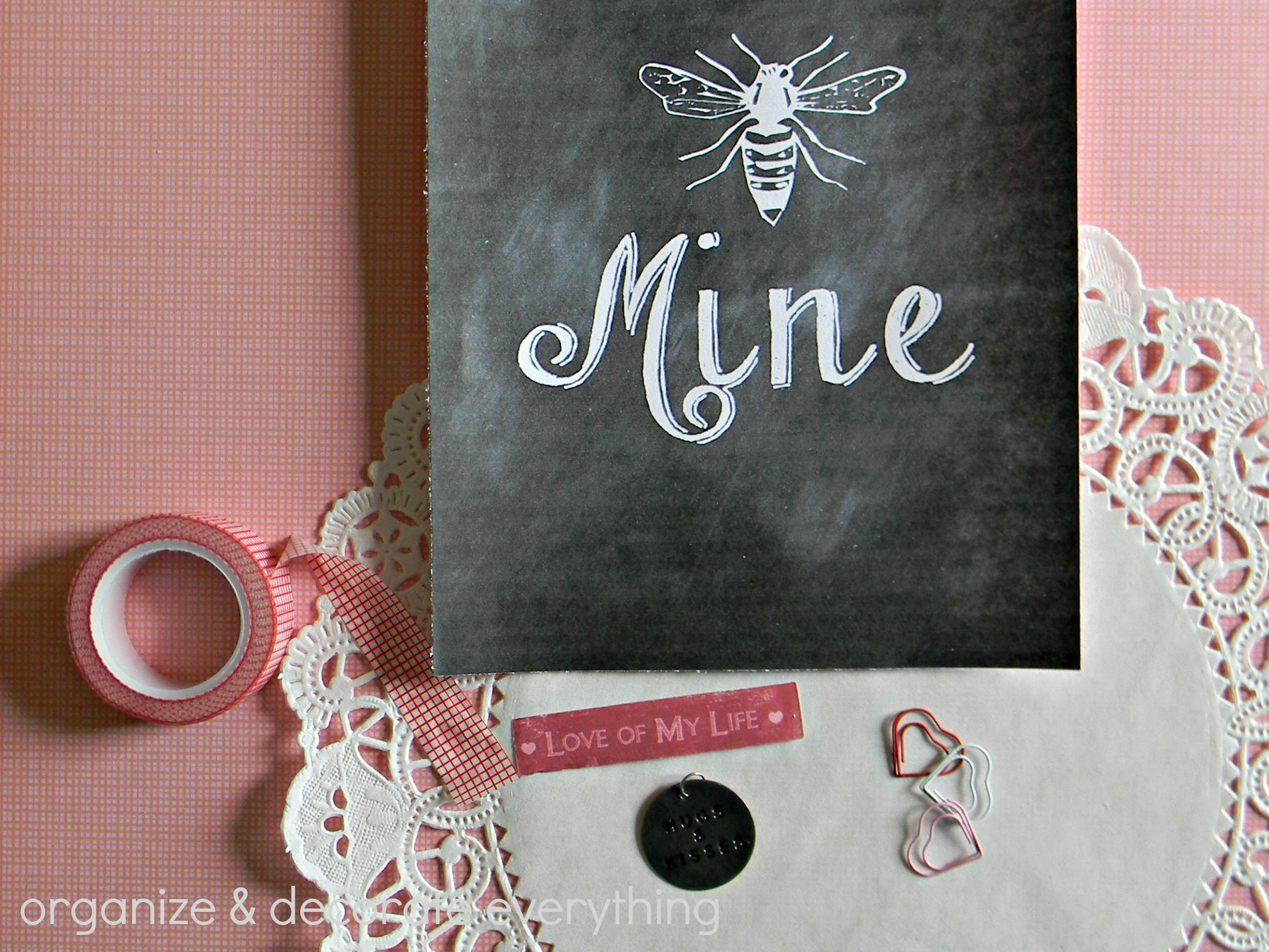 Bee Mine Printable supplies