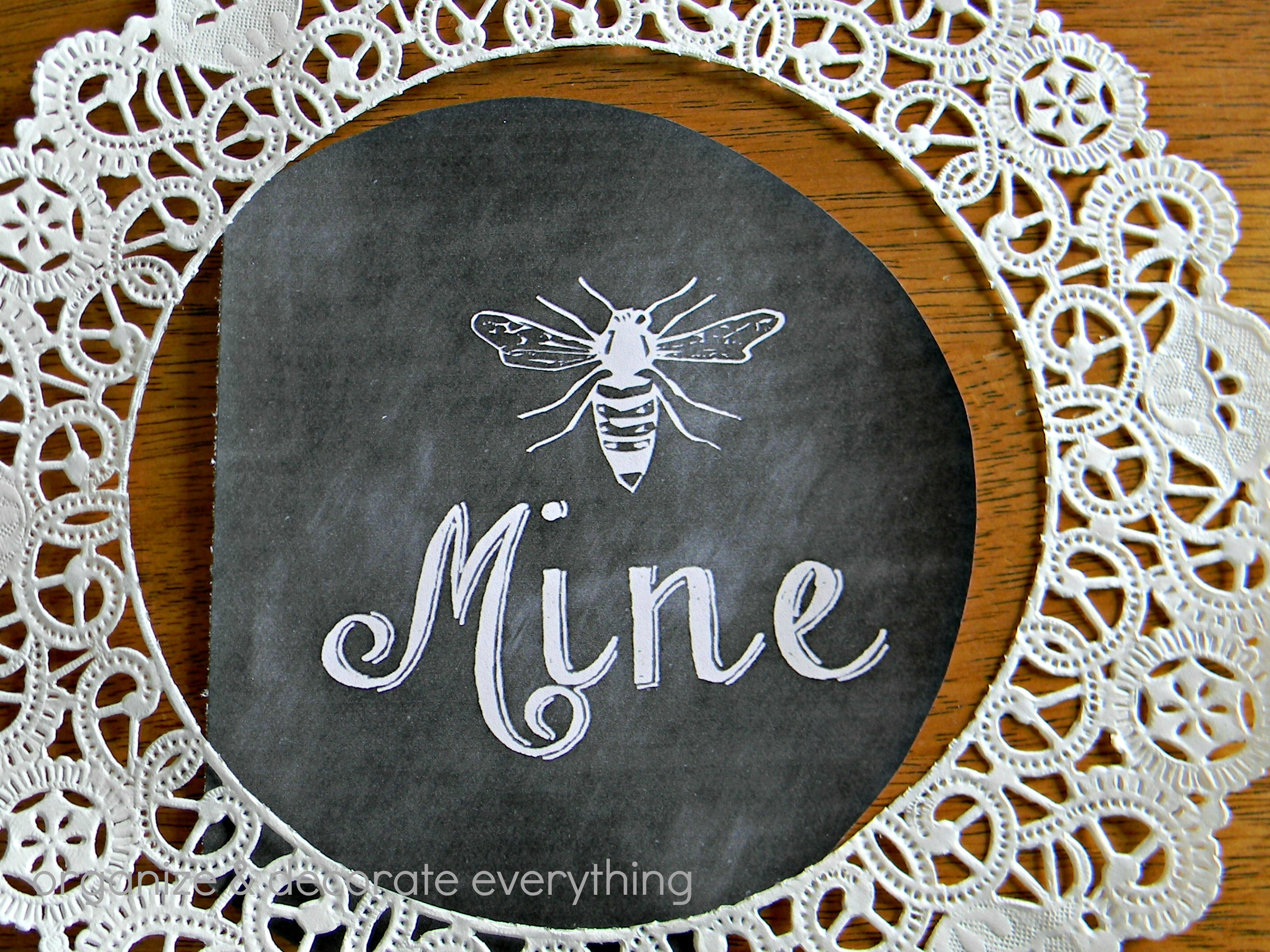 Bee Mine Framed Printable 2