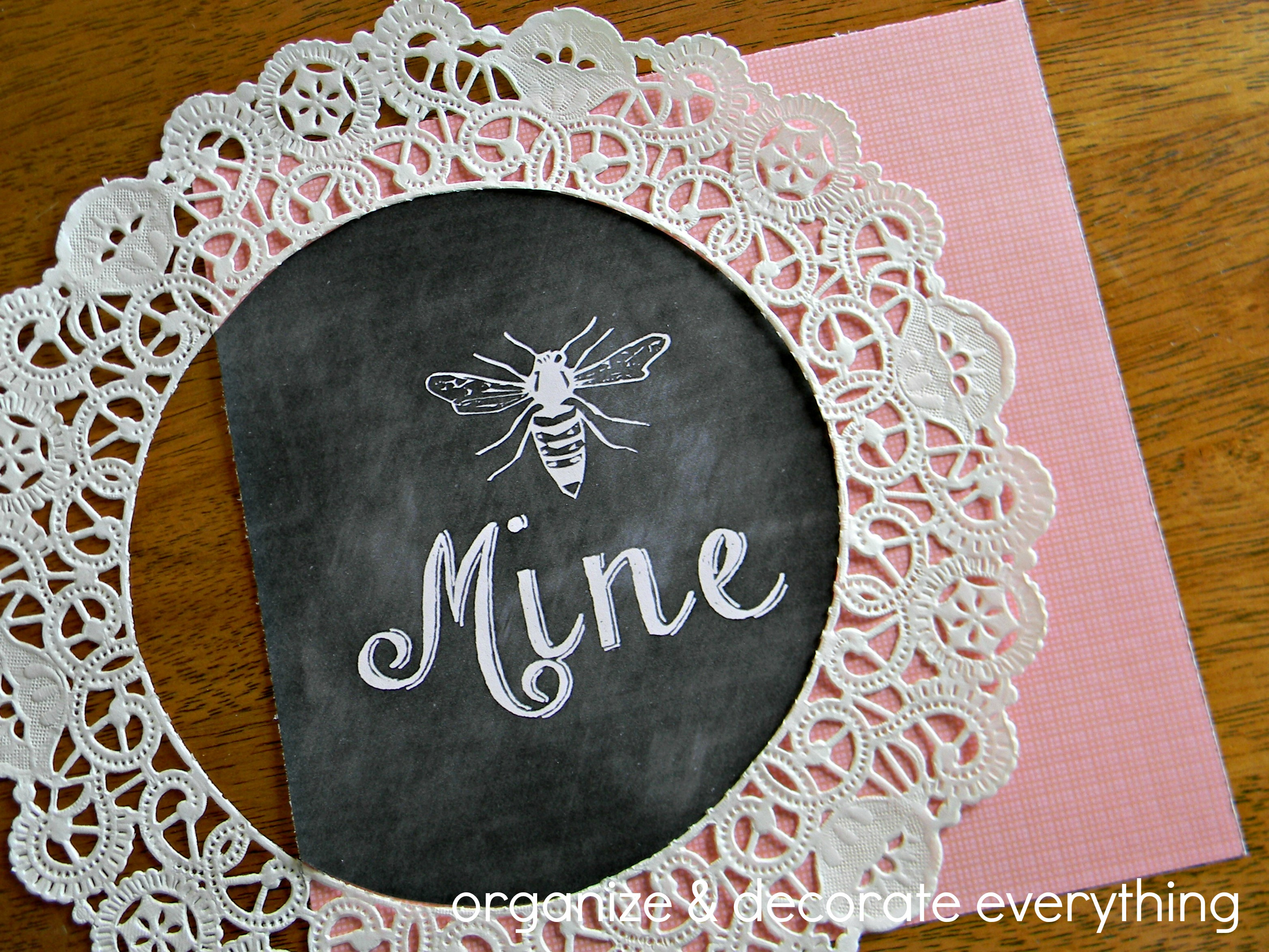 Bee Mine Framed Printable 3