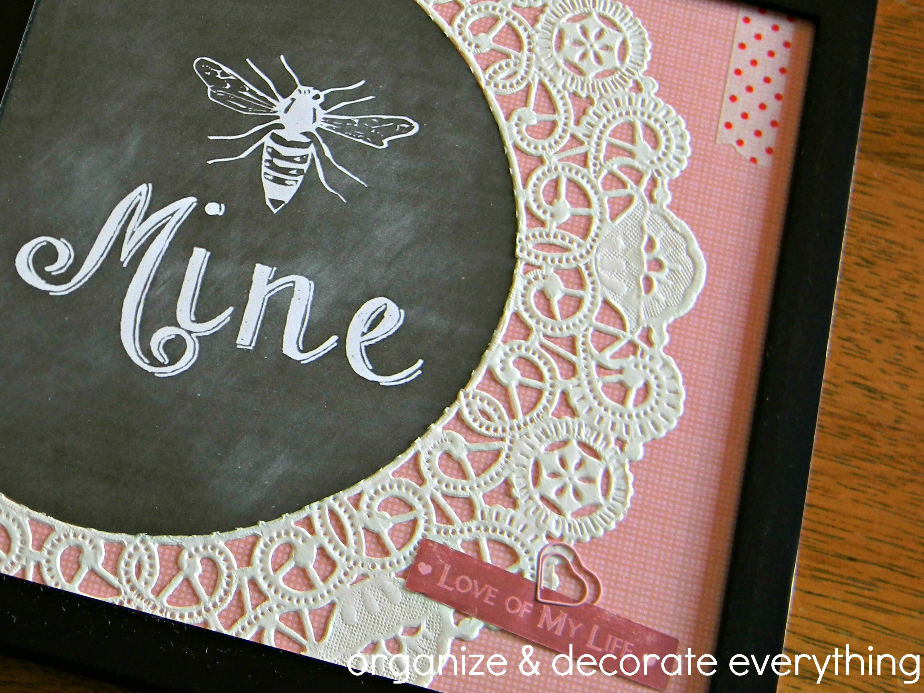 Bee Mine Framed Printable 5