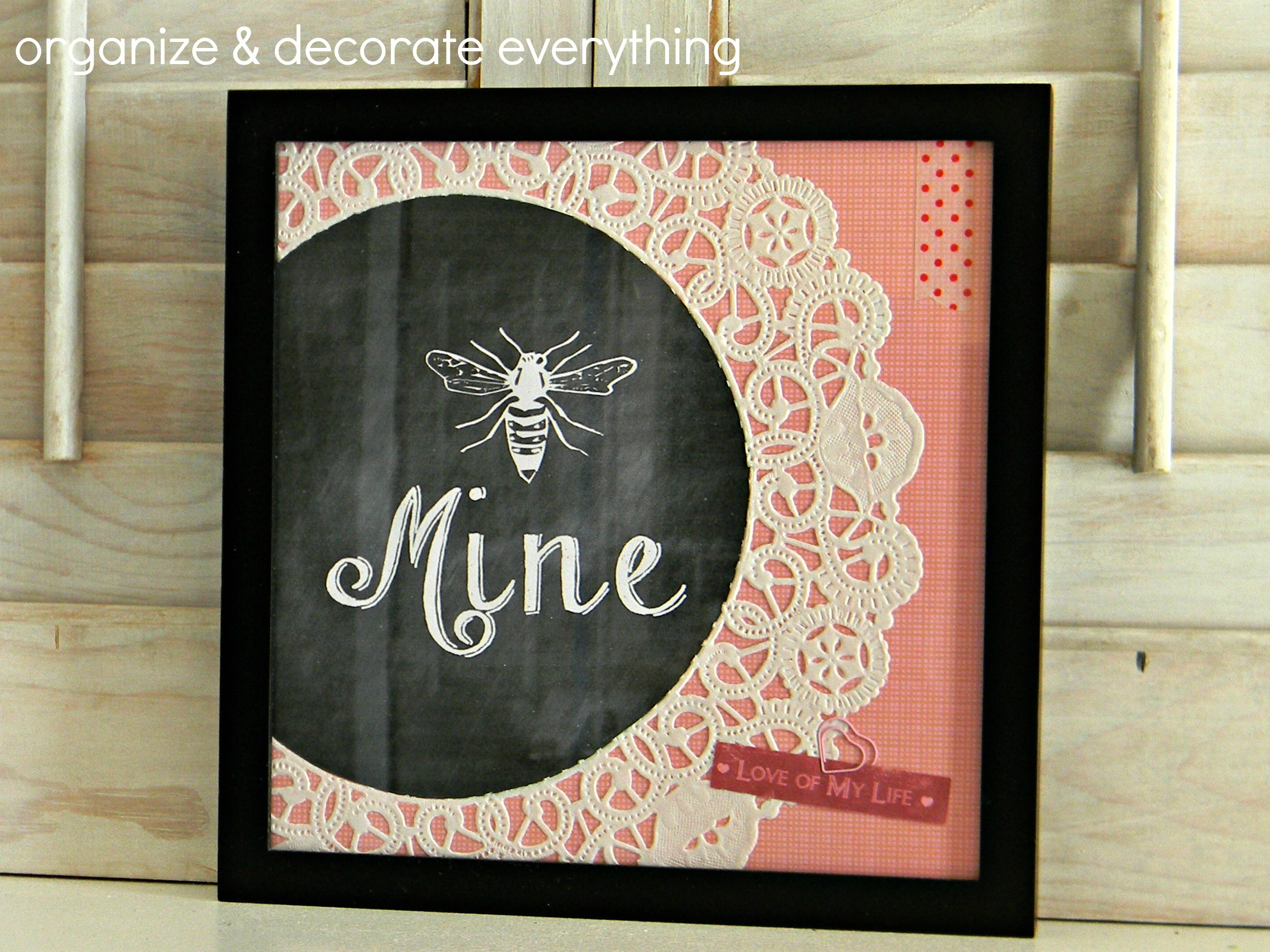 Bee Mine framed Printable 1