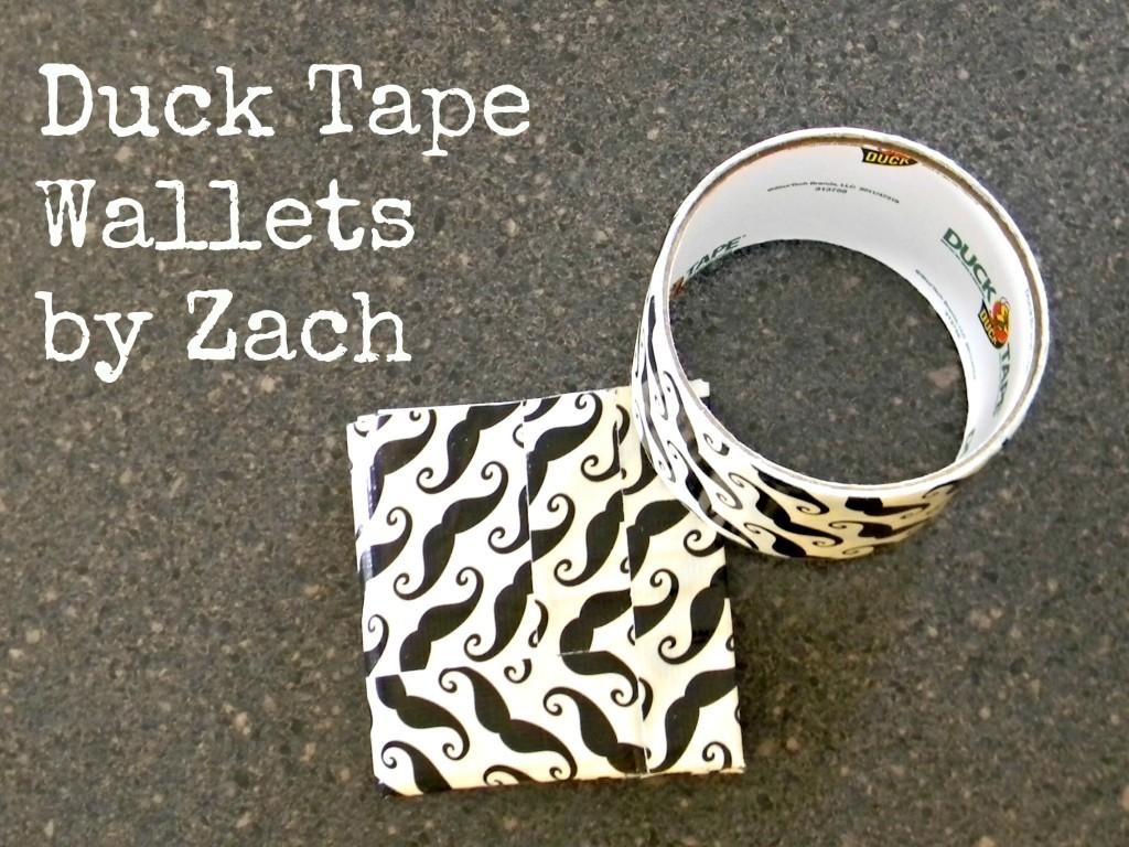 Duck Tape Wallets by Zach