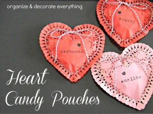 Heart Candy Pouches by Organiize & Decorate Everything