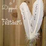 Stamped & Dipped Feathers