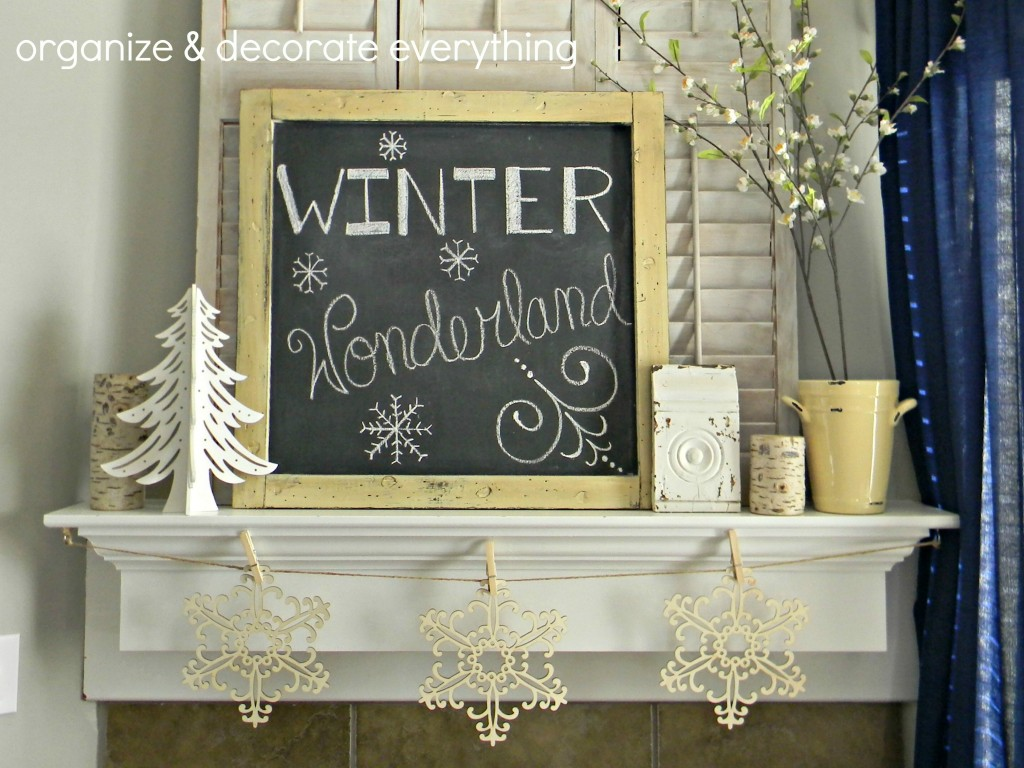 Winter Wonderland Mantel.1