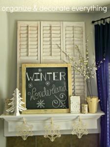 Winter wonderland mantel 8.1