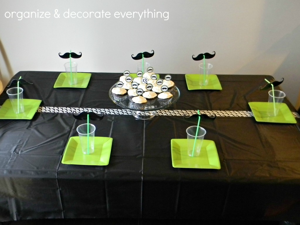 Simple mustache party ideas organize and decorate everything for 13th birthday party decoration ideas