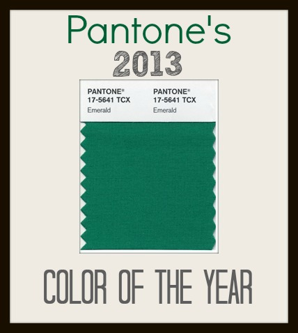 emerald pantone's 2013 color of the year