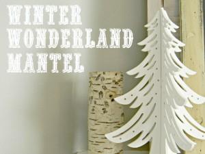 winter wonderland mantel .1