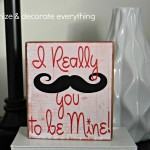 I Really Mustache You To Be Mine Valentine's Block