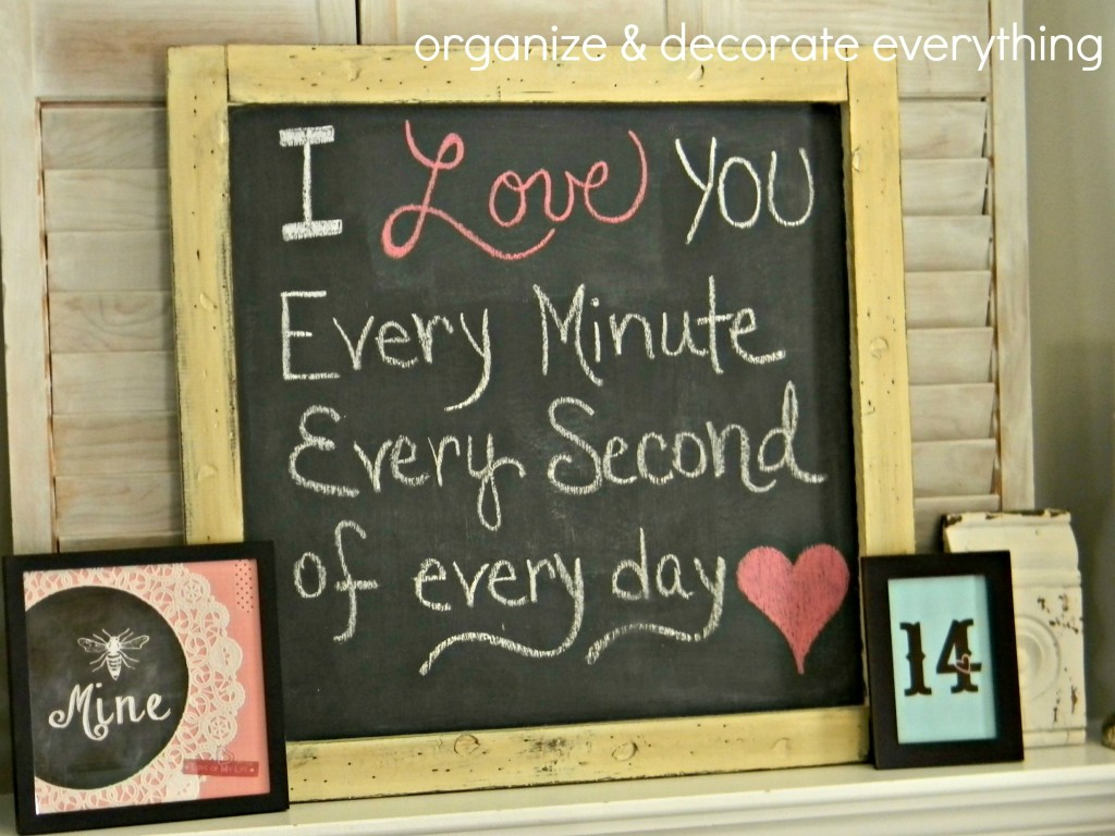 Valentine's Day Mantel 7.1