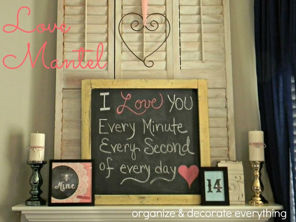 Valentine's Day Mantel.1