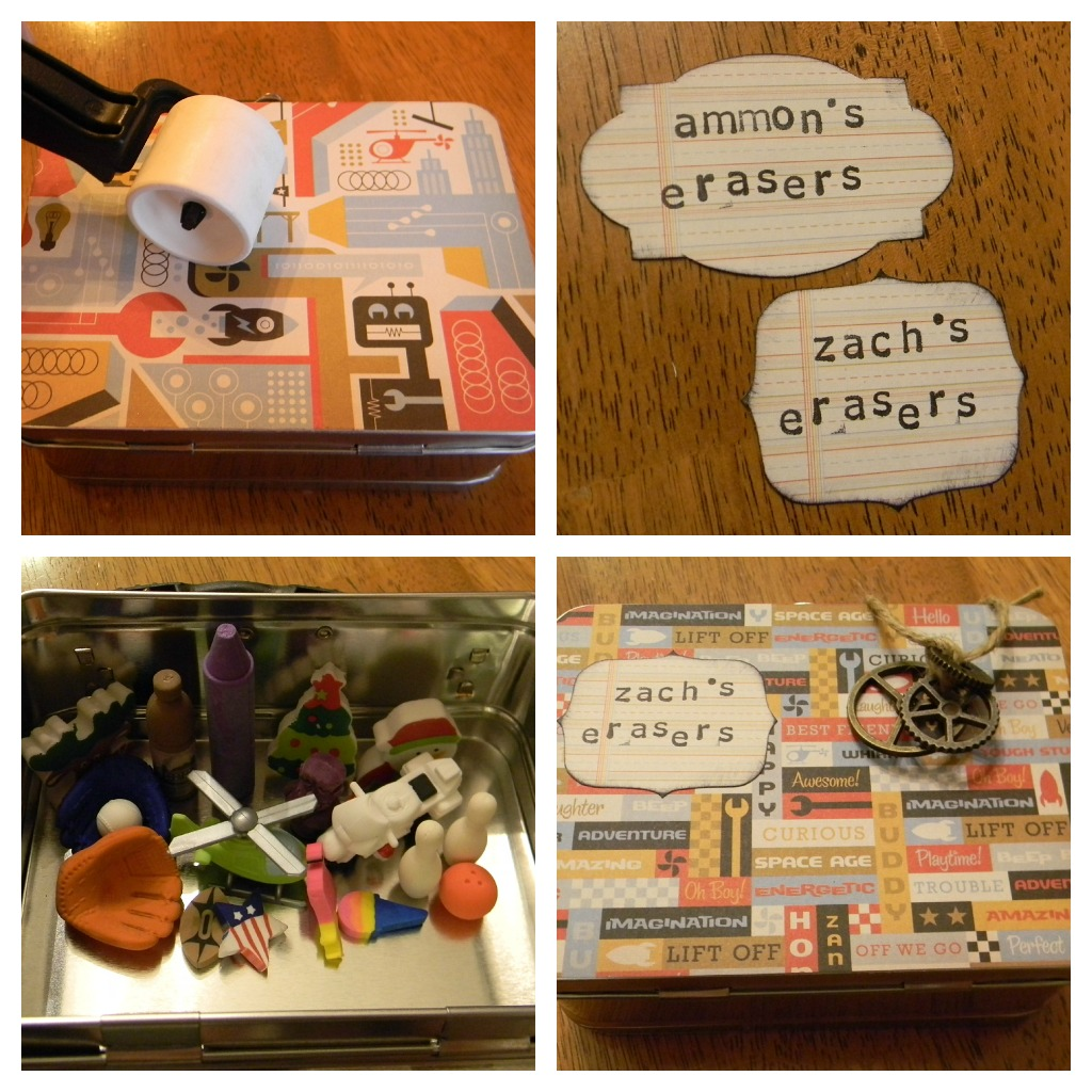eraser collection boxes collage