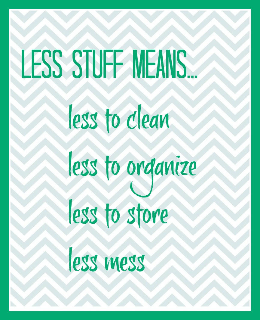 less stuff means printable 3