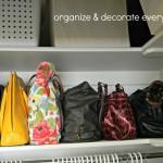 Organizing and Storing Handbags