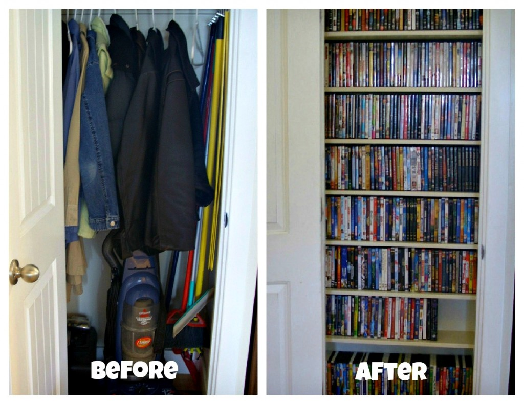 Before and After Video Closet