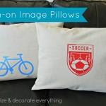Iron-on Image Envelope Pillows