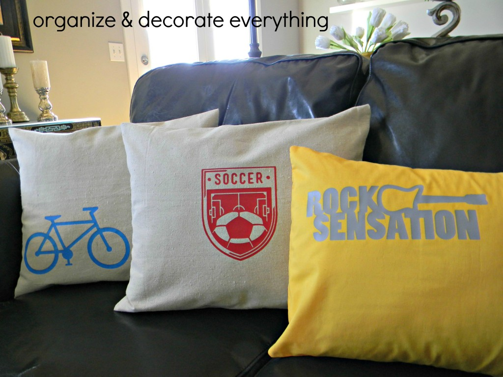 Cricut Iron-on Pillows.1