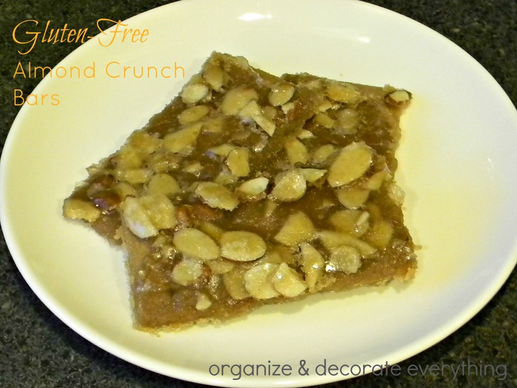 Gluten Free Almond Crunch Bars .1