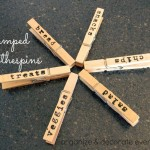 Stamped Clothespins – Repost