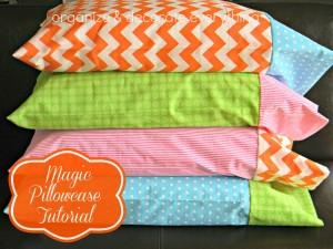 2 fabric magic pillow cases.2