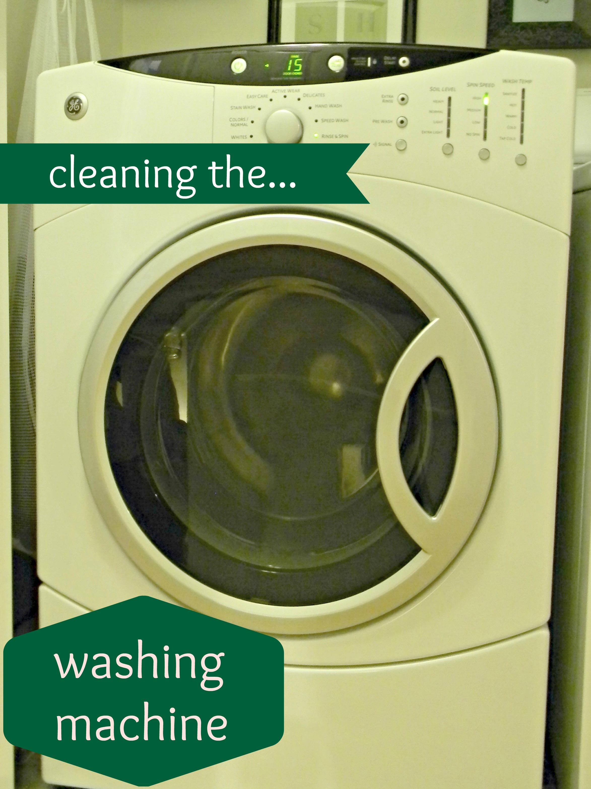 cleaning the washing machine
