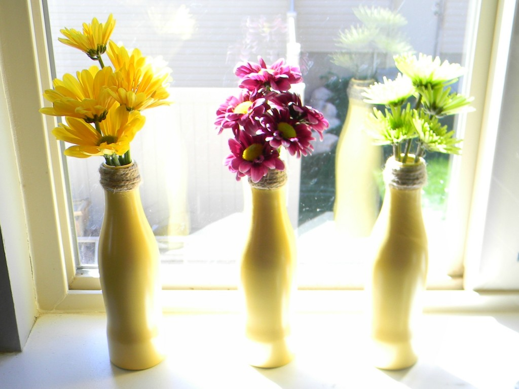 coke bottle flower vases .6