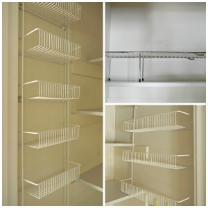 pantry shelving collage