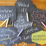 Photo Booth Chalkboard Word Bubbles