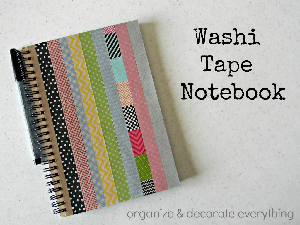 Washi tape notebook organize and decorate everything for Back to school notebook decoration ideas