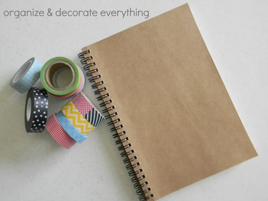 washi tape notebook 9.1