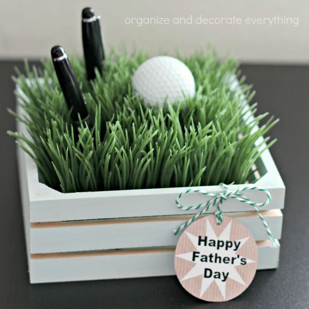 Faux Grass Pen Holder square