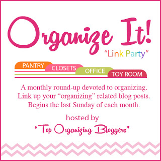 Organize It Link Party FB button