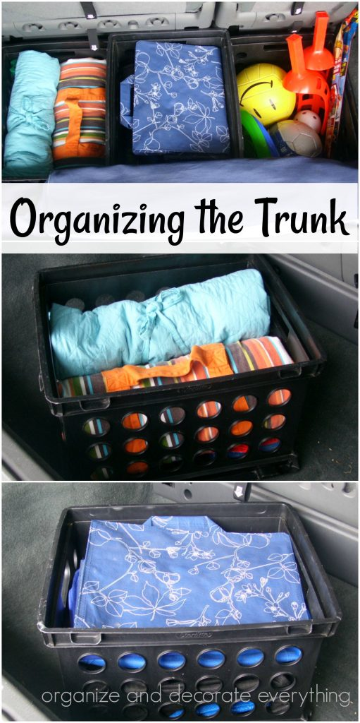 Organizing the trunk for Summer