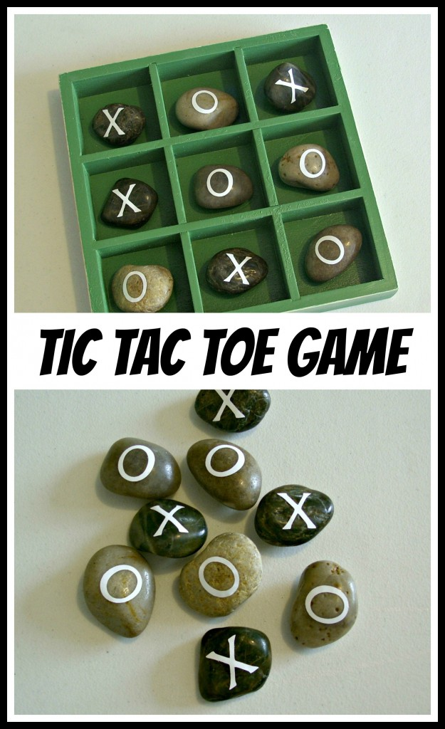 Shadow Box and Rock Tic Tac Toe Game is a perfect gift for dad or grandpa