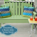 Transform a Bench with Spray Paint
