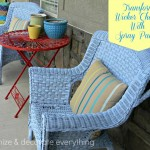 Transform Wicker Chairs with Spray Paint
