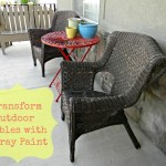 Transform Outdoor Tables with Spray Paint